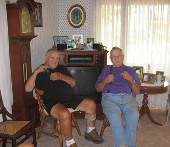 Len and Laird in Laird's home, August 1, 2009.
