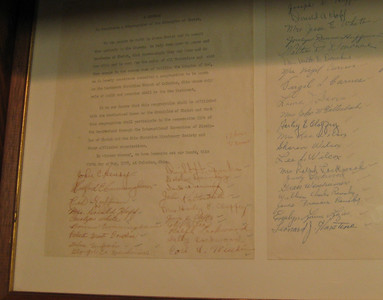 Note Leonard J. Harstine's signature (lower right) on this 1957 document creating the church in Columbus.