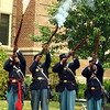 The 54th Massachusetts Volunteer Company A demonstrate the firing of there musket.