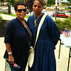 Maxine Smith with Deborah Thomas White descendants of Nathan Hazard who is on a monument downtown Leominster.