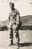 leonard, at home in Our cell, on leave from the AAF, in 1944. Note the old rock pavillon atop the Red Hill in the background.