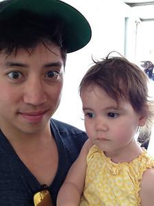 Les and Lana visit LA - May 2014