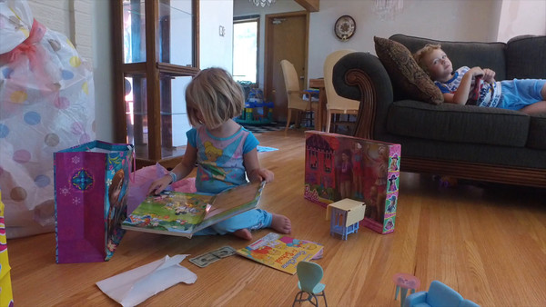 Lexie's fourth birthday, part 2, July 9th, 2016