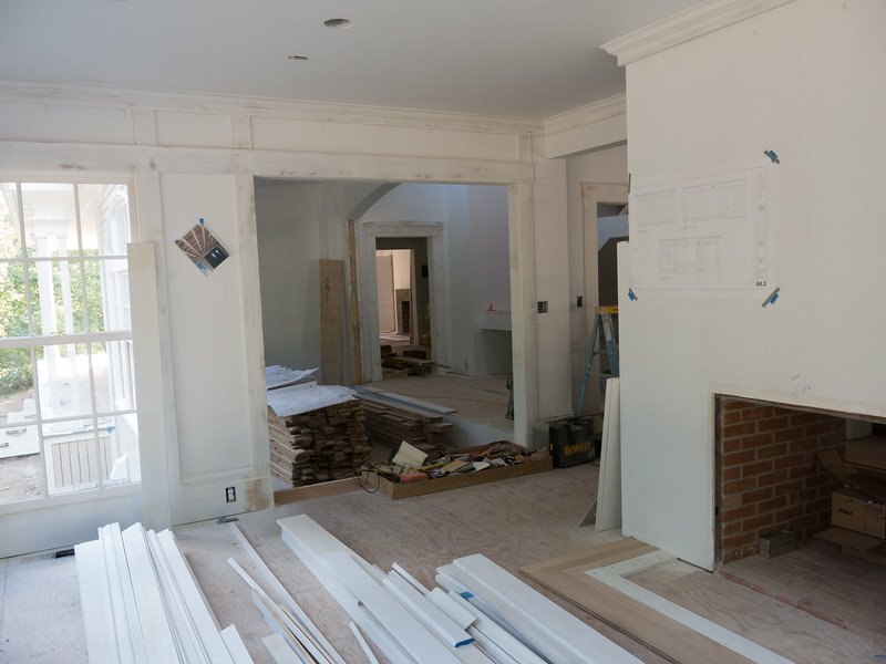 Sunroom, looking into Office, hallway on right and on through the house, piano room and grandparent room.