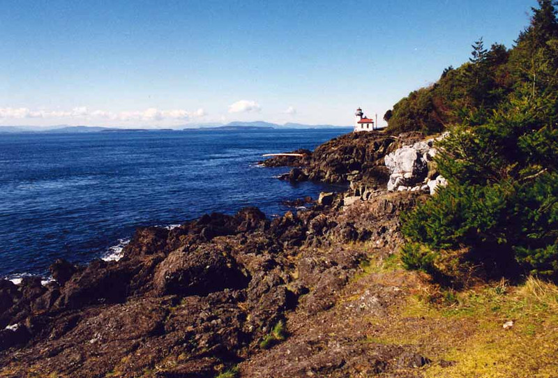 LIME KILN POINT LIGHTHOUSE<br /> From the marine viewing area, a short trail leads north to the lighthouse. Lighthouse tours are offered in summer on Saturday evenings.