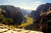 GREAT VIEW<br /> There's no doubt about it, the view of Zion Valley 1,208 feet below was well worth the climb.