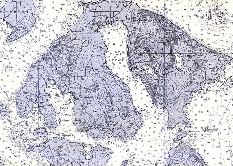 ORCAS ISLAND MAP
