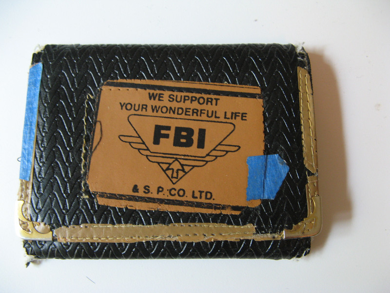 This was my old wallet.  Tee hee!