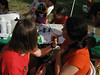 Miranda's old friend Rebecca was working the face painting booth.