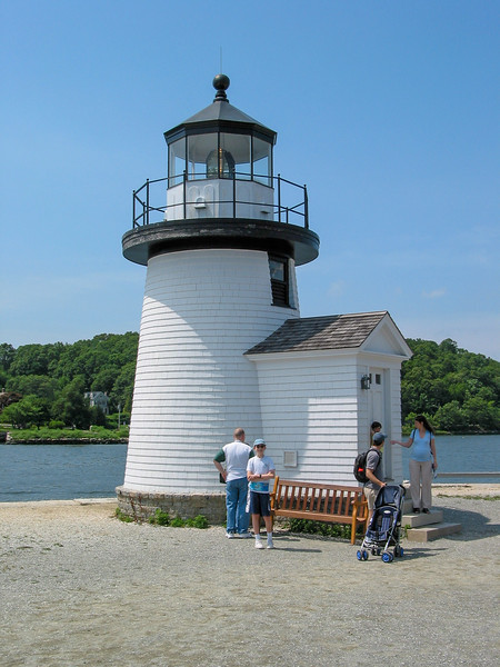 Replica of Brant Point Lighthose at Mystic Seaport.