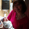 Proud grandmother Gigi (Karen) gets to hold Lilly Mae