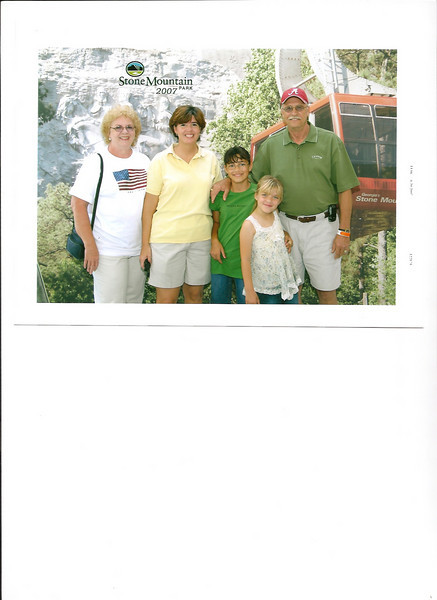 2008 - this is my Uncle Billy Ray Gaines, Aunt Virginia, cousin Kim and her two little girls - the live in Atlanta, Georgia