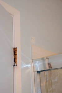 Custom trim job over the shower.