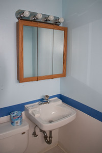 Master bath--no cabinet for T.P. storage?