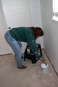 Linda painting.
