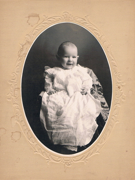 Father's baby picture, 7 months, Sept 7th, 1903