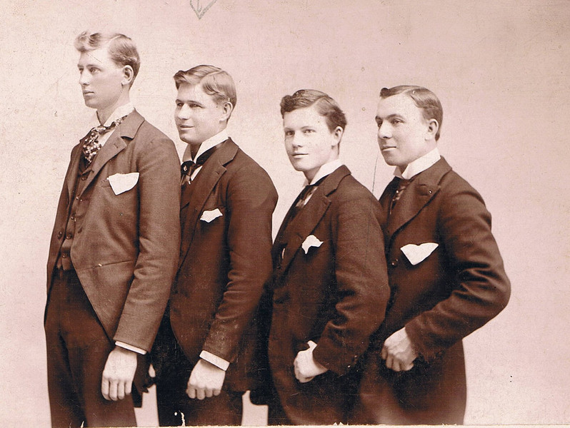 Grandfather Gilbert Lines, second from left