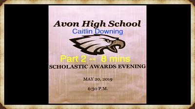 Scholastic Awards Evening - Avon High School - May 2019