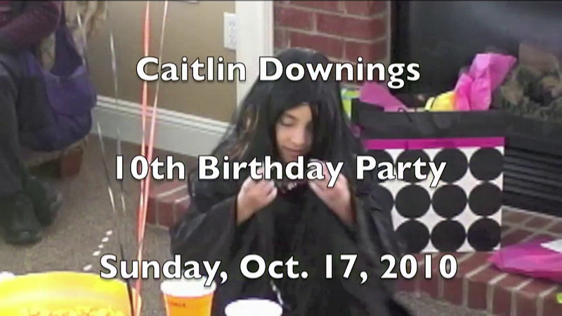 Part I - Caitlin's birthday party on Oct. 17, 2010 at Homeowners Clubhouse