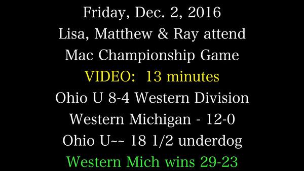 Ohio U vs. Western Michigan 2016