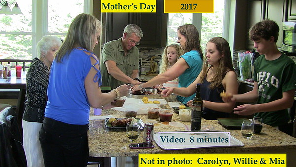 Mother's Day, May 2017 Celebrated at the Downing's