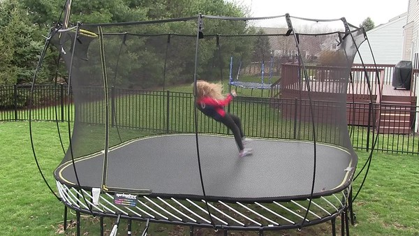 VIDEO:   1   1/2  MINS  ~~  Baby on trampoline 3-25-17
