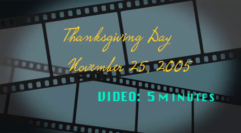 VIDEO:  5 minutes - November 2005 - Schuettes & Downings