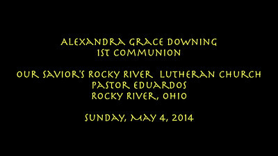 Video:  Alex's 1st Communion--5-4-14