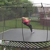 VIDEO:  1  1/2  MINS ~~ Baby on trampoline 3-25-17