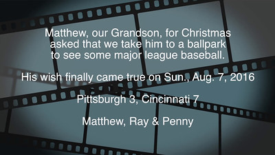VIDEO - 5 1/2 mins......  Click on image above and then on triangle and video will play.  Grandson, Pittsburgh, Sun., Aug. 7, 2016.  A Christmas Wish Comes True!