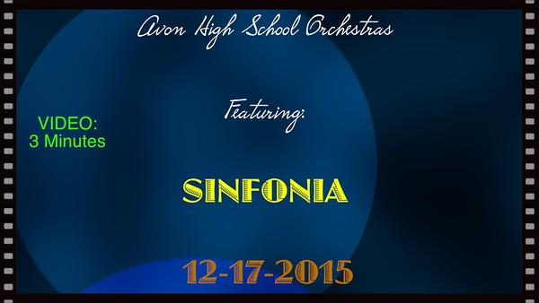 Sinfonia - Avon High School, 12-17-2015