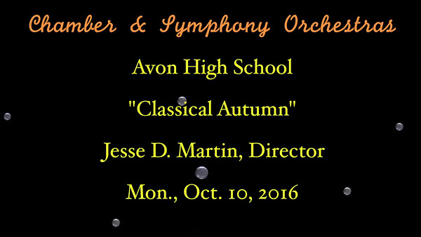 VIDEO:  15 minutes -- Avon High School Chamber & Symphony Orchestras