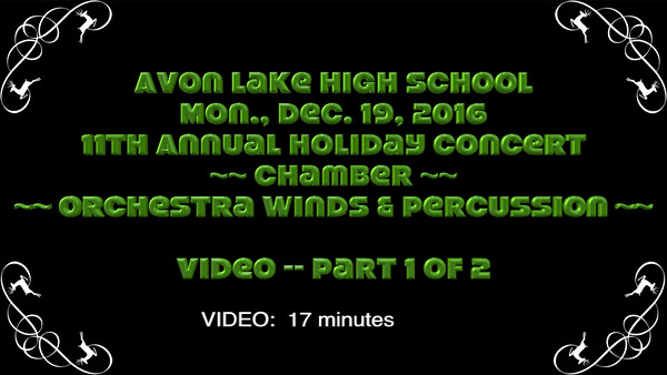 Chamber & Orchestra Winds & Percussion ~~ Part 1 of 2