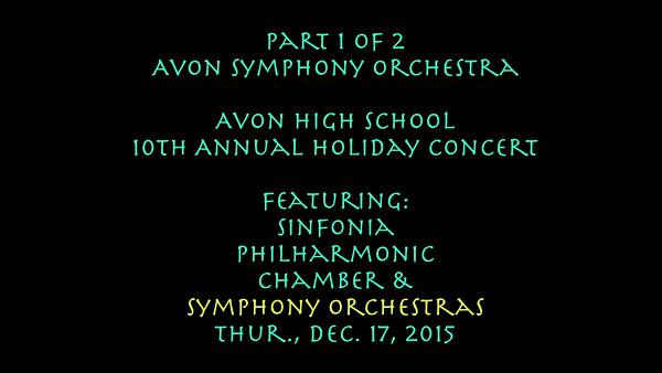 Chamber-Avon High School Orcherstras-Dec. 17, 2015