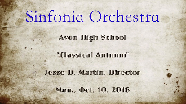 VIDEO:  7 minutes -- Click on image and then on triangle and video will play.  Sinfonia Orchestra