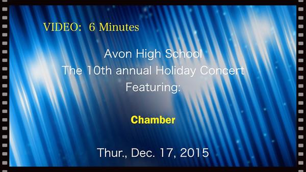 Chamber - Avon High Orchestras, Thur., Dec. 17, 2015