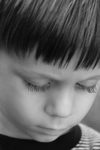 My son in a contemplative moment.