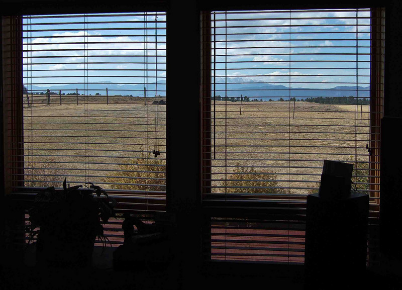 Peggy Wolff Way Ranch - View of Front Range from Living Room