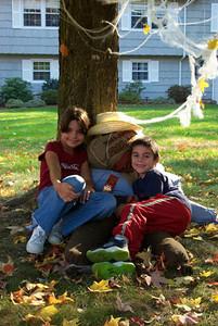 Kids & scarecrow