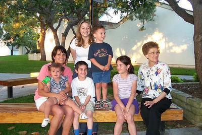 Toni, Rachel, Jeff, Jaimee, Bret, Allie, Aunt Mary