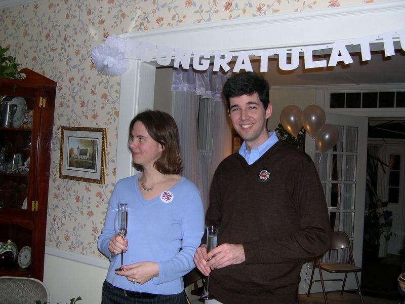 The happy couple, Liz and Jim.