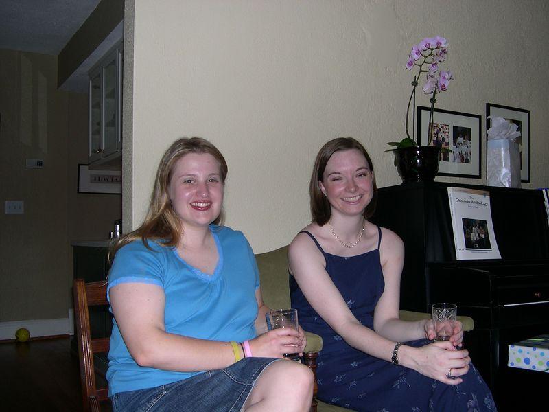 Liz's friends, Pam and Philippa (of the unfortunate sailing incident).