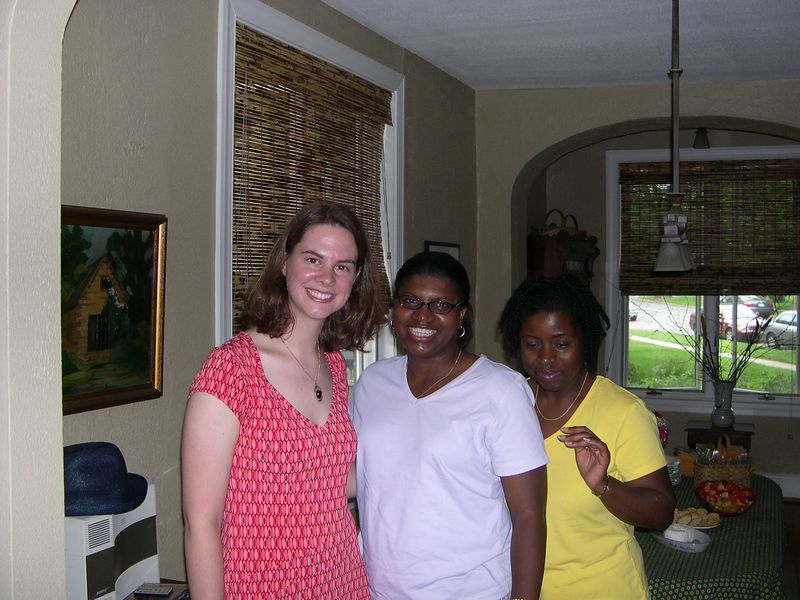 Liz with Kimya and Joanne.