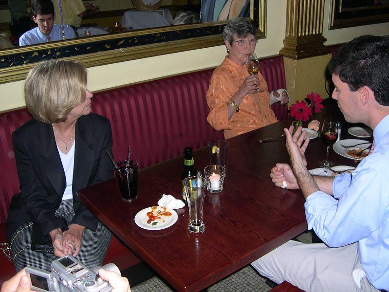 Jim talks with Mimi Westin and Ursula.