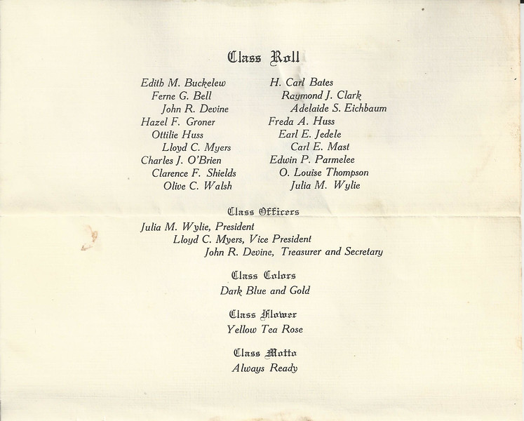 lloyd class of 1913 announcement page 2