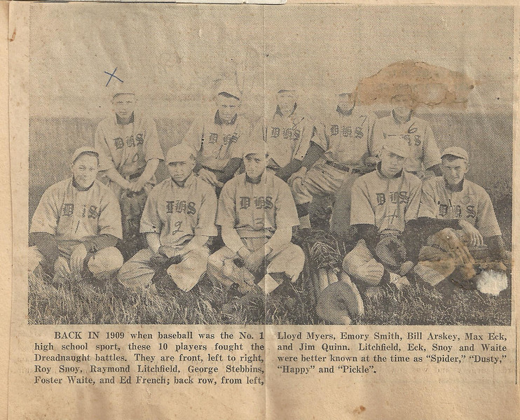 lloyd c myers 1901 baseball