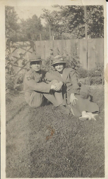 Lloyd Curtis and Alice before going to france