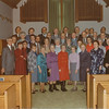 Some charter members of Eastminster United Church 1970. Lloyd Lantz fourth from right in back rock.