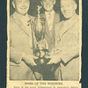 """News photo: Herb Mason, Lloyd Lantz, Ben Yanover. """"Some of the many prizewinners in yesterday's Merchants and Travellers Golf Tourney at teh Gatineau Club were, left to right, B class winner Herb Mason, and Lloyd Lantz and Ben Yanover of Belleville..."""""""