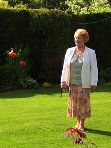 Mair enjoying the beautiful garden